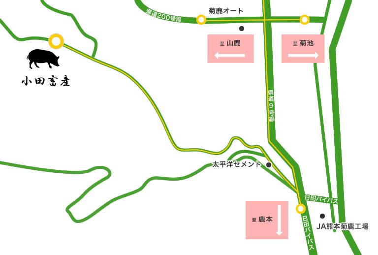 小田畜産周辺地図
